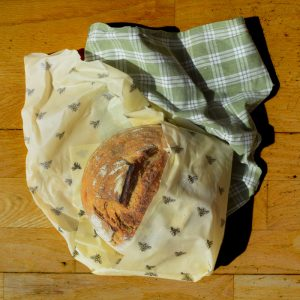 Cling Cloth Large Pack beeswax food wraps made in the UK - wrap that extra large boule with ease for freshness.