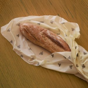 Bread Wrap Cling Cloth beeswax food wraps made in the UK - ideal for artisan breads and baguettes