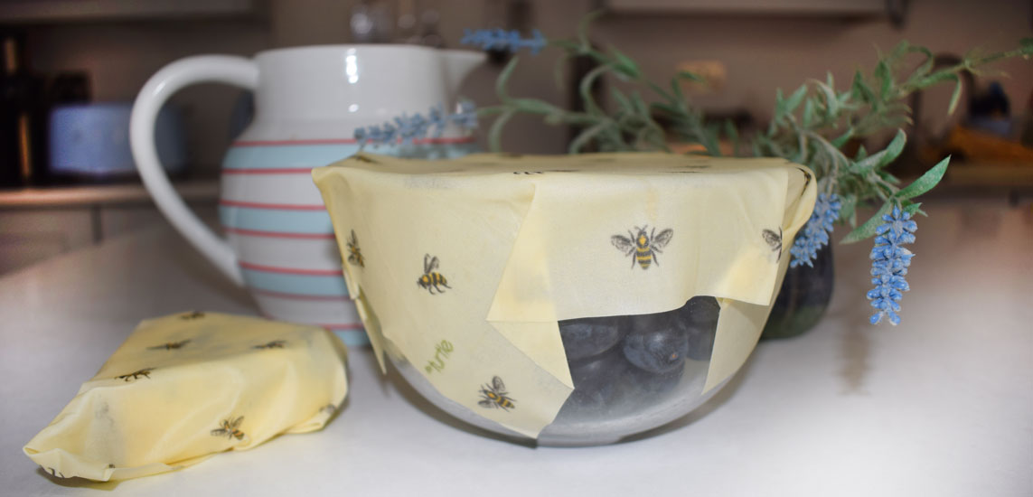 Cling Cloth - beeswax food wraps made in the UK - clover your containers for extra freshness without disposable plastic!