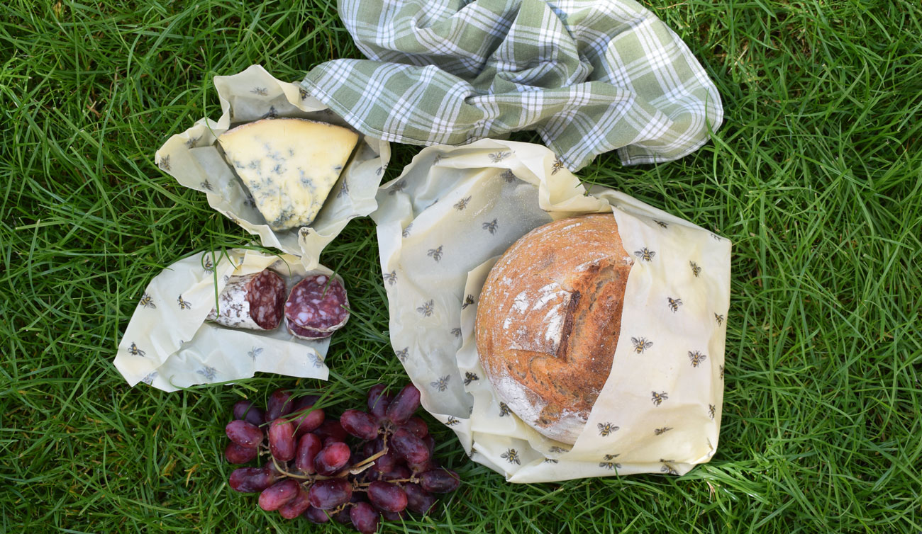 Cling Cloth beeswax food wraps made in the UK - variety pack with sizes for all your needs.