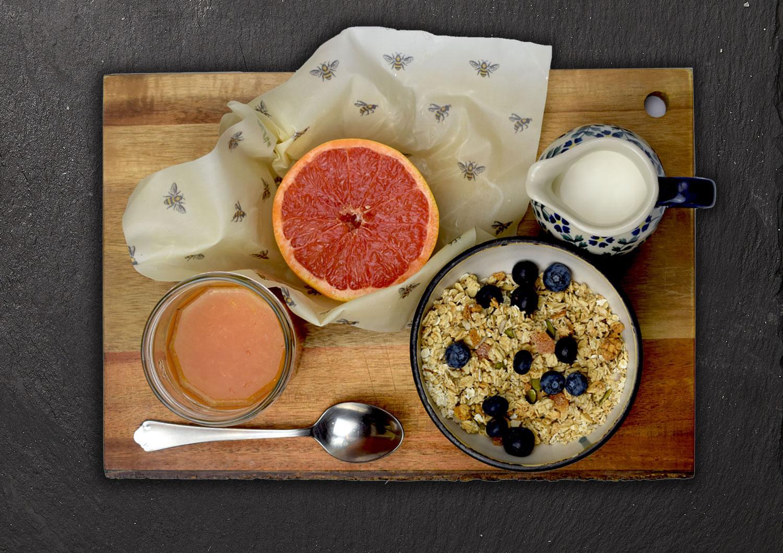 Cling Cloth Beeswax Food Wraps keep food fresher, longer.